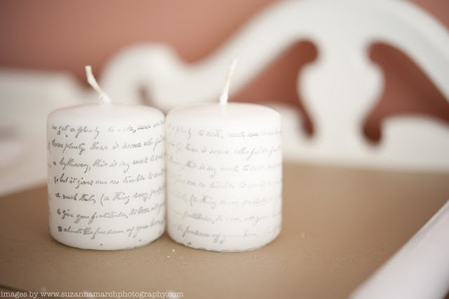 Make Your Own Printed Candles {Sparkle & Hay}