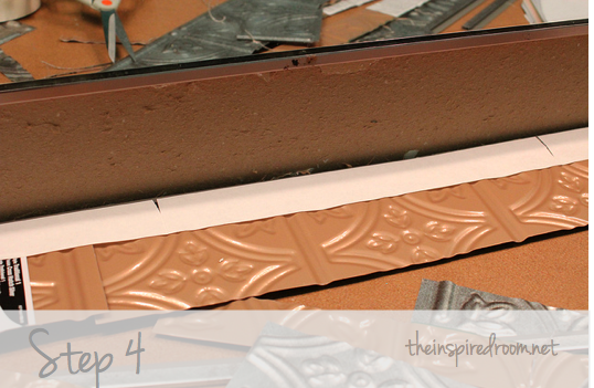 DIY Faux Tin Ceiling Tile Back Splash