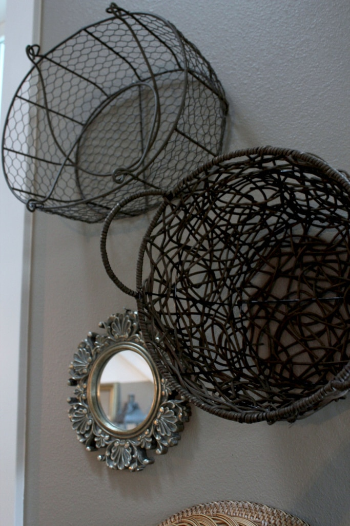baskets on wall