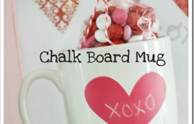 chalk board paint mug valentines diy craft