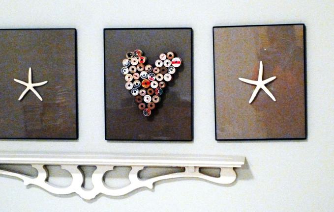 Make Your Own Heart Art {b3 Home Designs}