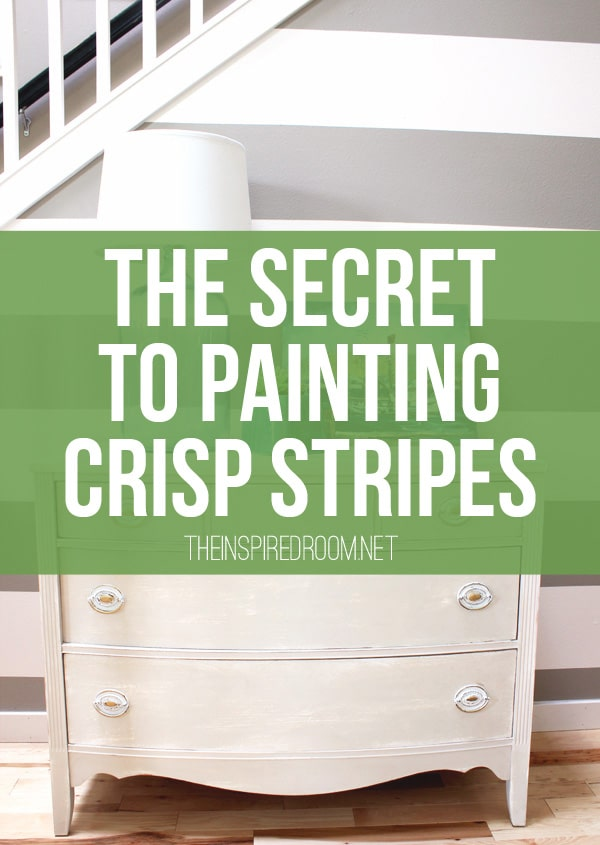 How to Paint Stripes {The Secret to Crisp Stripes}