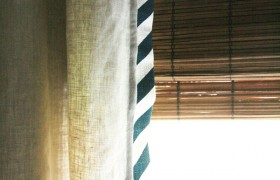 How to Trim Curtains with Diagonal Stripe
