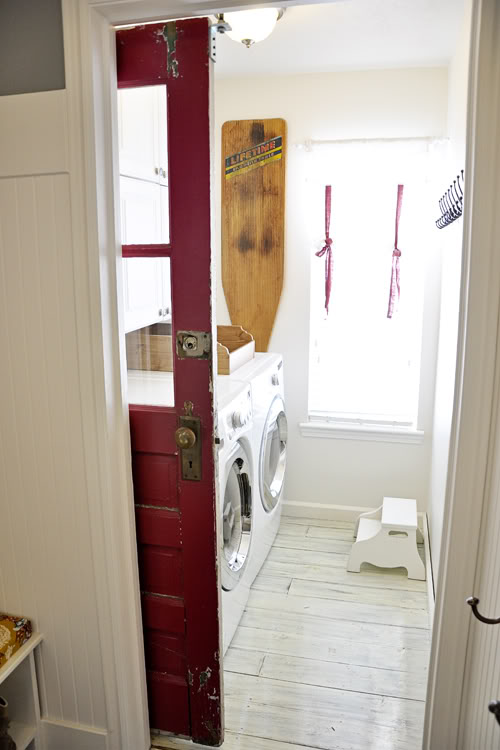 Best Laundry Room Ideas: Make A Charming Sliding Door