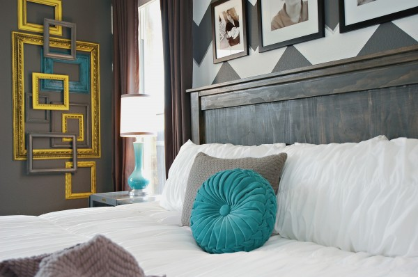 Modern Eclectic Bedroom Makeover {Living With Lindsay}