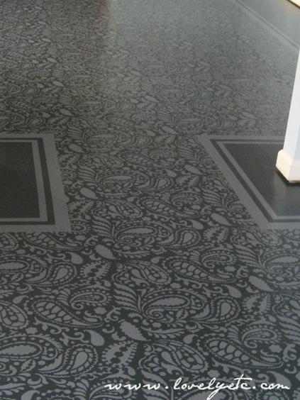Stenciled Subfloors Lovely Etc The Inspired Room