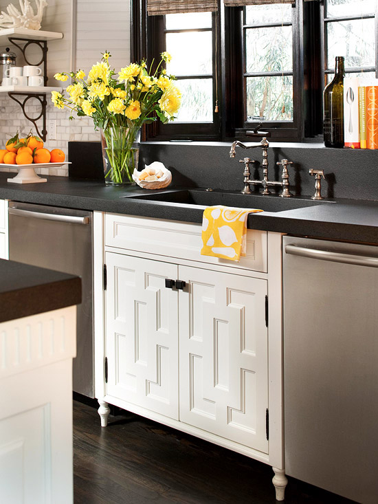 10 Creative Ways To Embellish, Repurpose And Reinterpret Cabinetry BHG U2013  Refresh Cabinet Doors