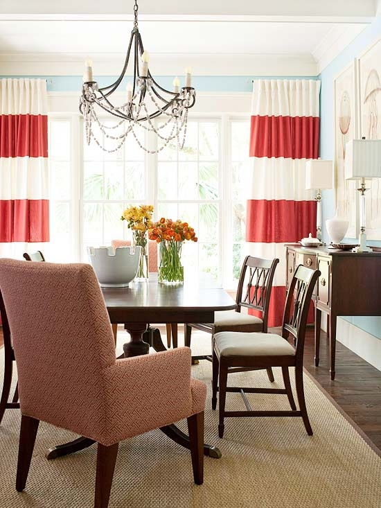Four inspiring rooms the inspired room for Dining room drapes