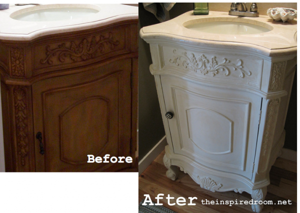 before after painted vanity