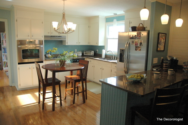 Painting Dated Wood A Kitchen Makeover The Decorologist