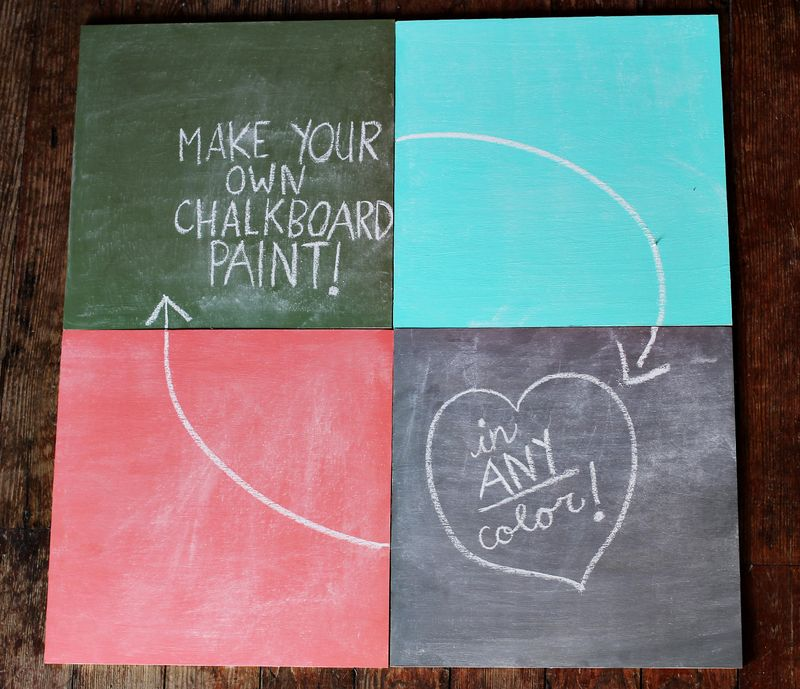 How to Make Chalkboard Paint In Any Color {A Beautiful Mess}