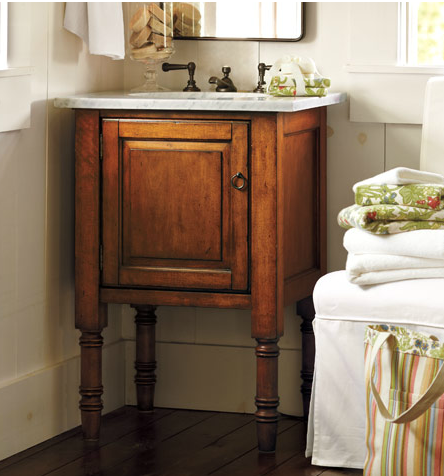 Small house solutions for more space and a small space linky the inspired room - Bath vanities for small spaces set ...