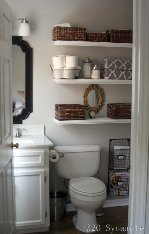 Room Decorating Before And After Makeovers - Tiny bathroom makeover