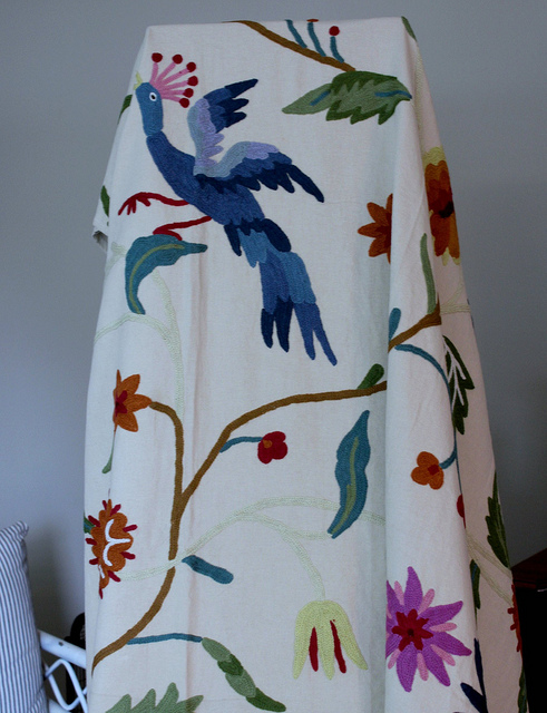 Birch Tree Fabric Curtains Bird of Paradise Paper