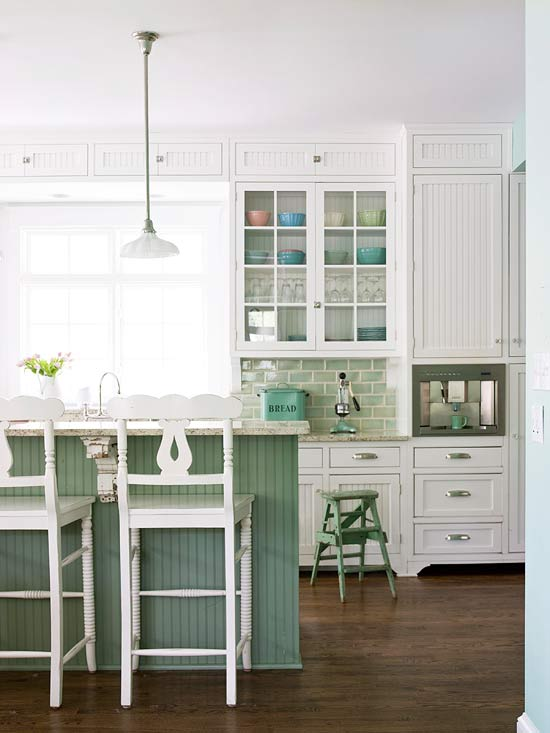 bhg green kitchen