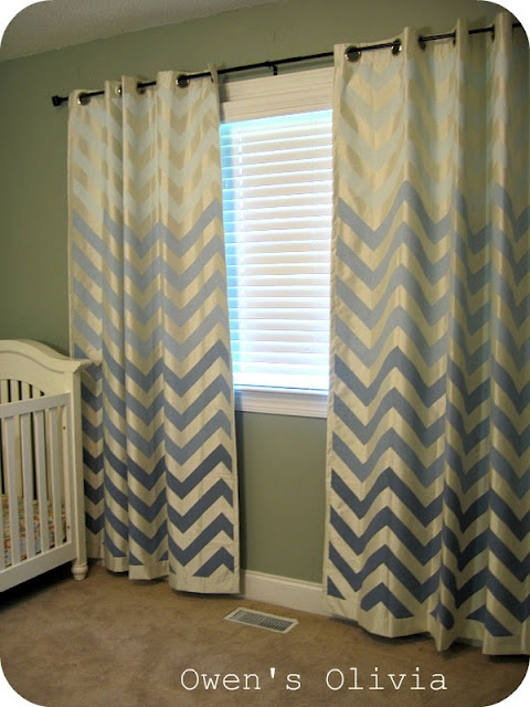 Curtains Ideas chevron curtains ikea : Five Creative Curtain Projects from the DIY Files - The Inspired Room
