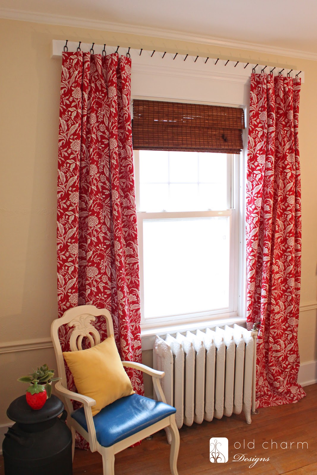 Curtains Hung with Forged Nails {DIY Curtain Rod!} - The ...
