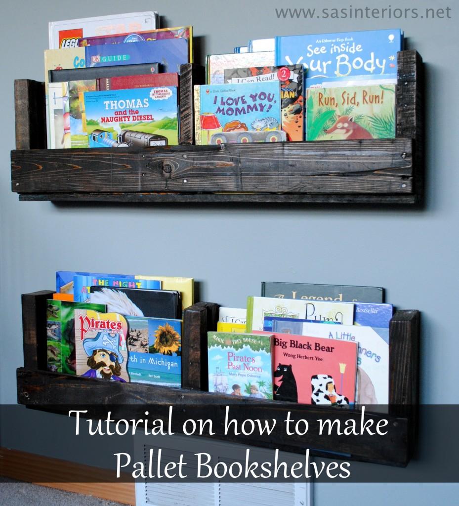 DIY Pallet Bookshelf {SAS Interiors}