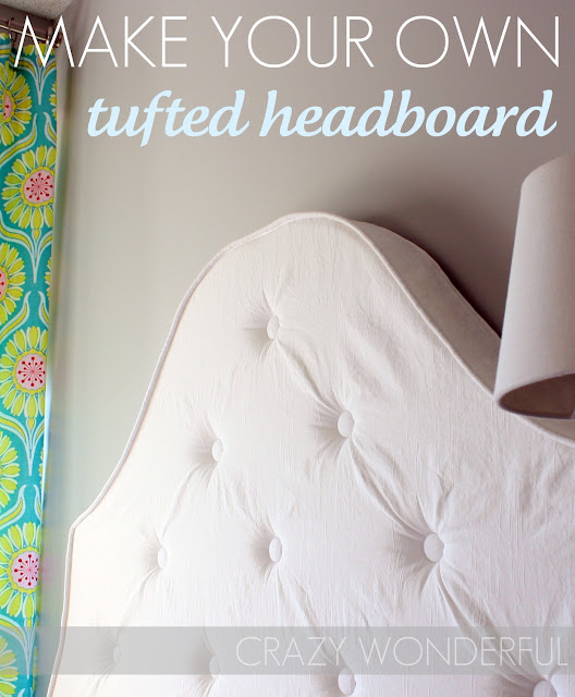 Diy tufted headboard crazy wonderful the inspired room Make your own headboard