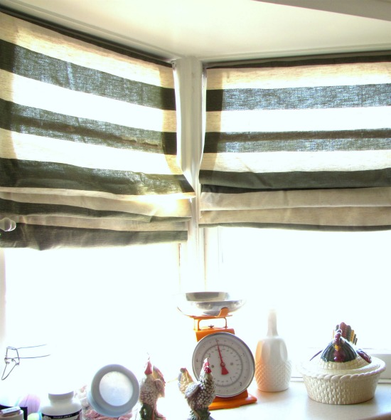 ... ugly mini-blinds into chic and fabulous fabric shades at Scoutie Girl