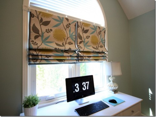 Make Your Own Window Treatment! No Sew Roman Shades {DIY Diaries}