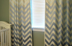 ombre chevron curtains diy