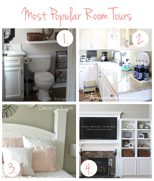 Top 4 Room Tours {Round Up}