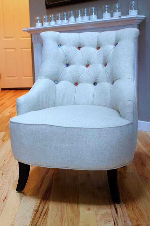 New Tufted Chairs {Home Office Makeover}