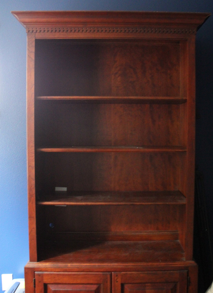 Lighten Up A Dark Bookcase Without Paint Home Office Makeover