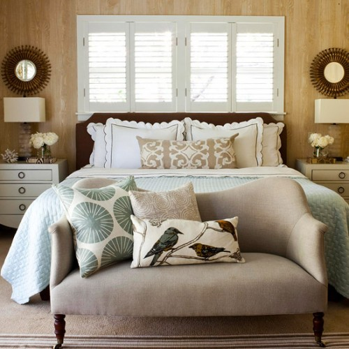 layering a bed 9 lovely bedrooms the inspired room. Black Bedroom Furniture Sets. Home Design Ideas