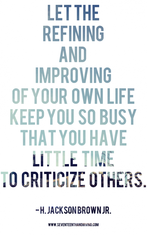 Don't Criticize
