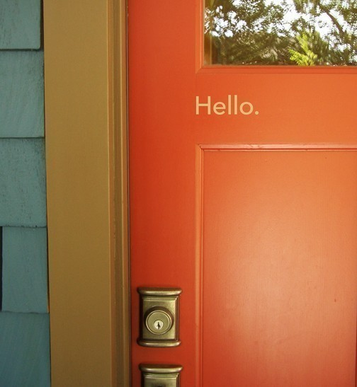 Orange Door and Hello Vinyl