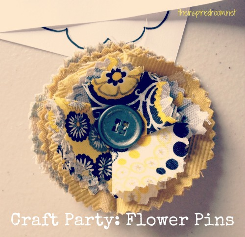 craft party flower pin