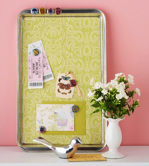 home office memo board cookie sheet