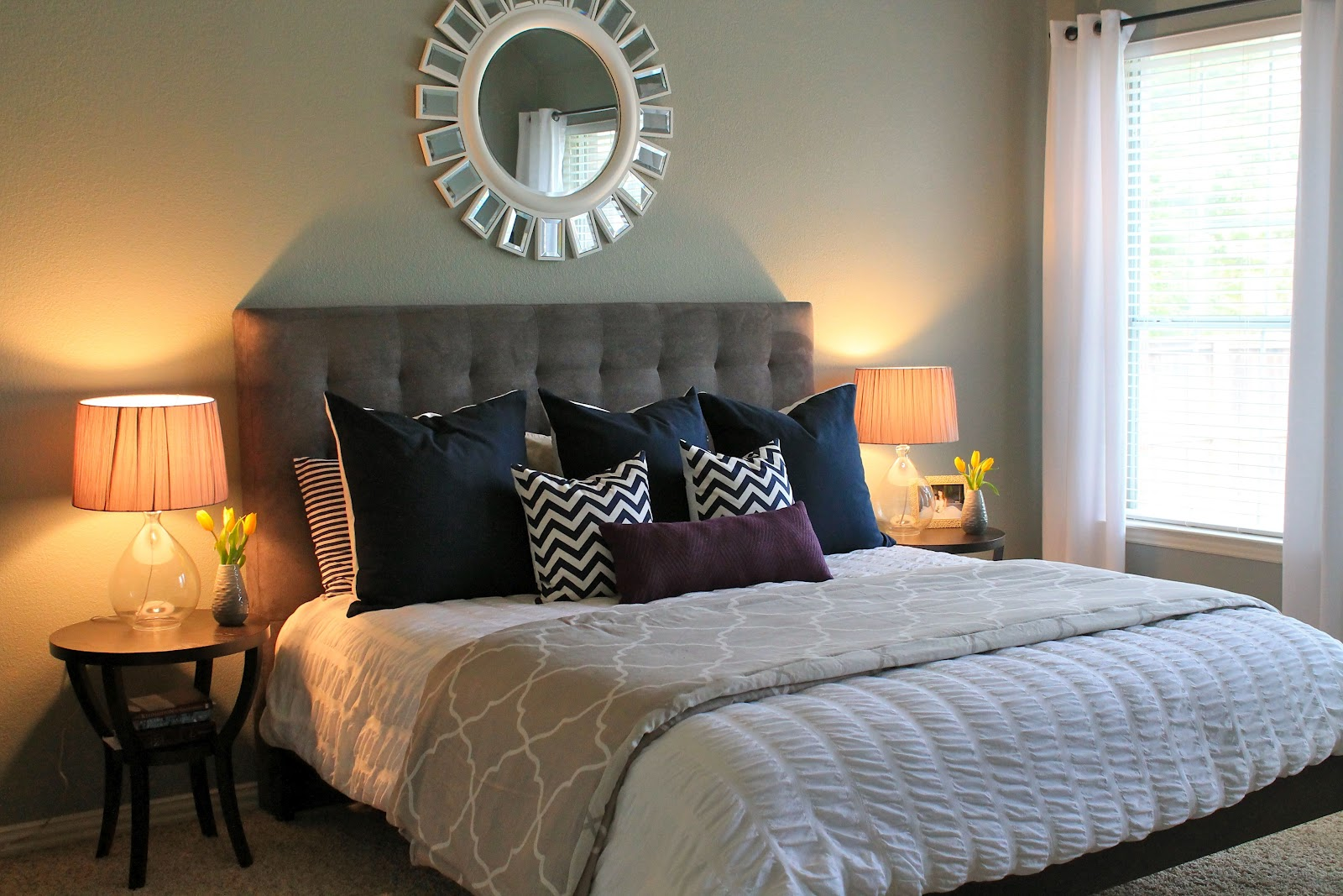 Master bedrooms 2 4 the inspired room for Bedroom headboard ideas