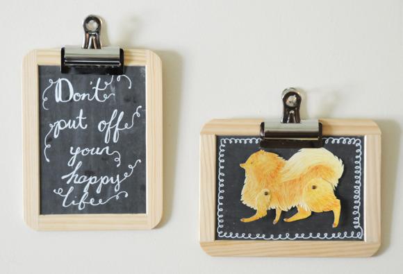 Creative DIY Chalkboard Clip Frames