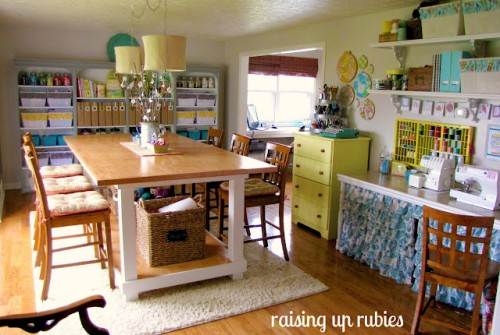 Living Room Turned Amazing Craft Room {Raising up Rubies}