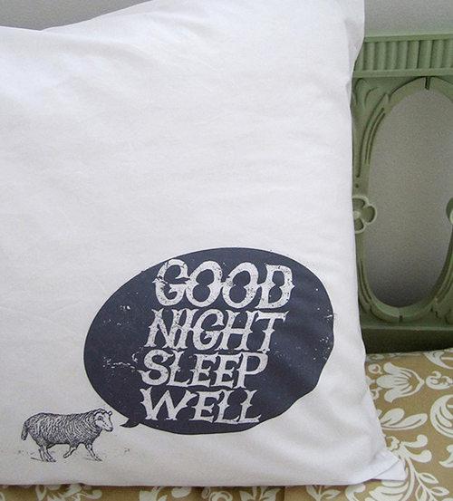 Good night sleep well pillows