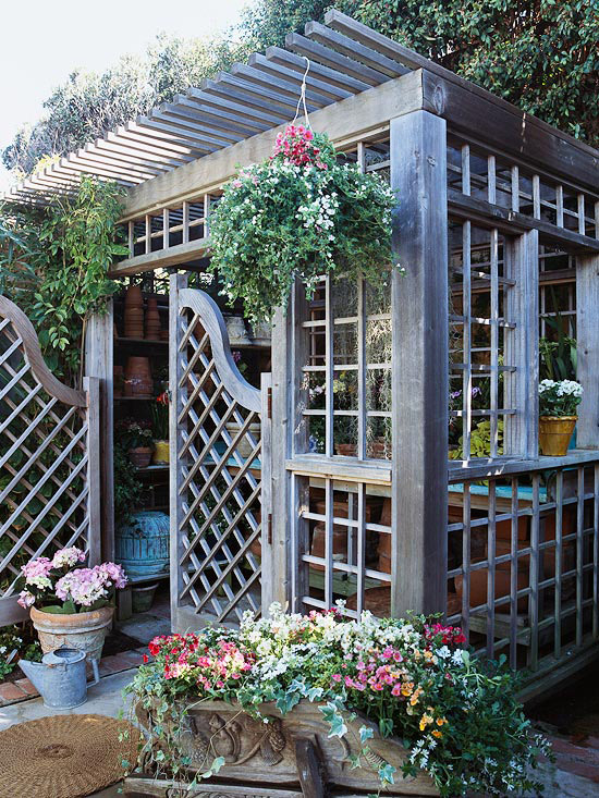 1000 images about garden sheds inside of sheds on for Pretty garden sheds