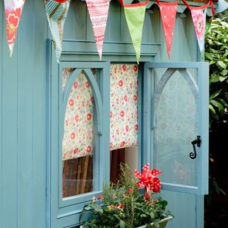teal garden shed playhouse