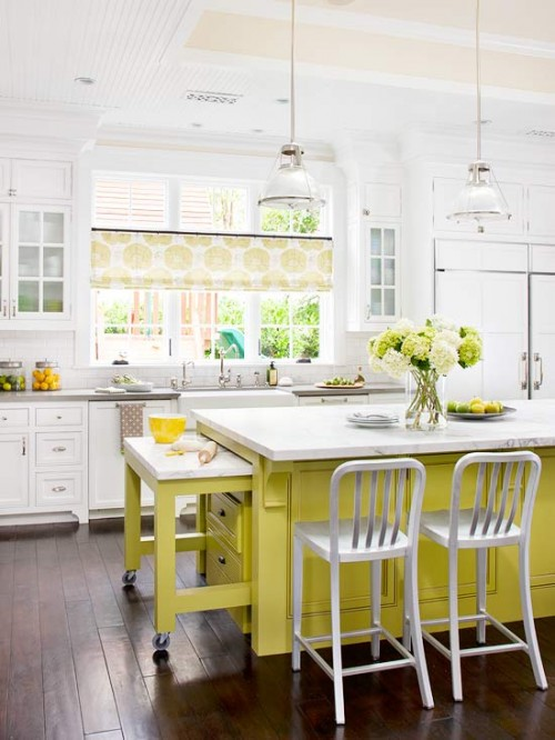 BHG yellow extendable island
