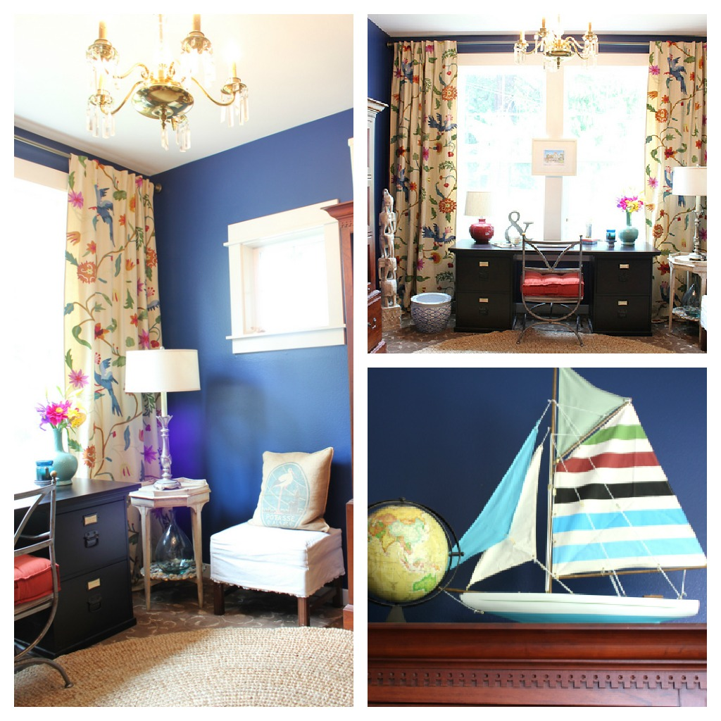 How To Decorate A Office Room: Before And After Makeover Decorating A Home Office
