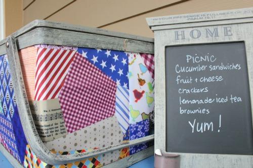 Summer Porch Decorating Idea: A Picnic Basket {Summer Giveaway!}