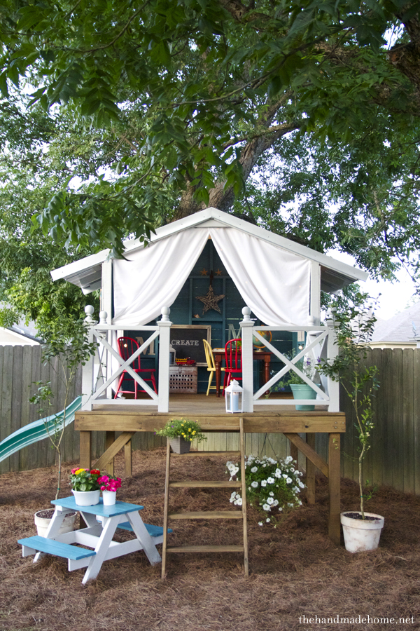Backyard Treehouse Ideas : Backyard ?Tree? House {The Handmade Home}