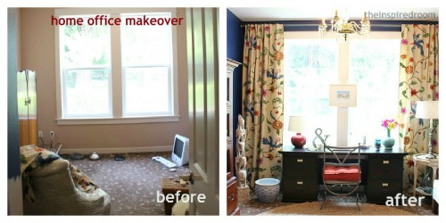 before and after makeover decorating a home office