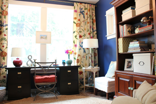 Charming Home Office Decorating Makeover {The Reveal!}