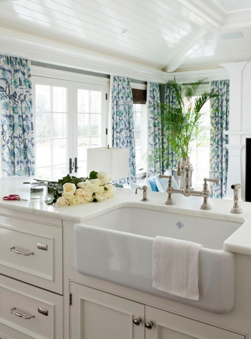 Coastal Style White Kitchen