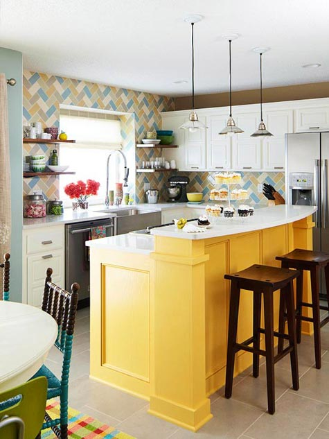 Yellow Kitchen Islands {Love or Not?}