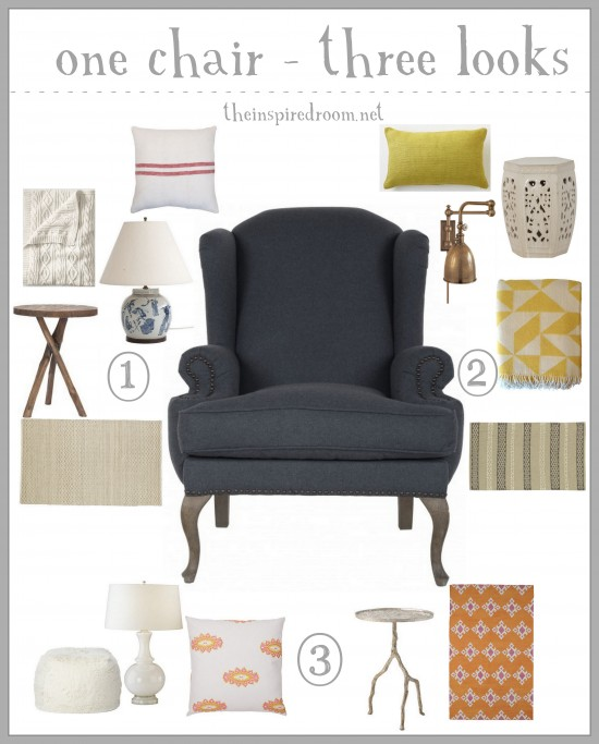 Inspired-Room-One-Chair-Three-Looks-Navy-Wingback-Chair