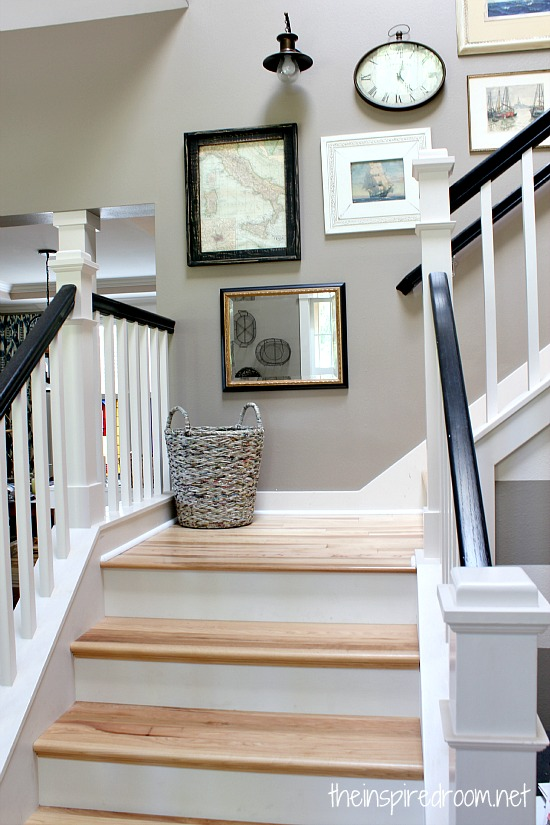 AuBergewohnlich Hickory Hardwood Floors And Staircase Makeover